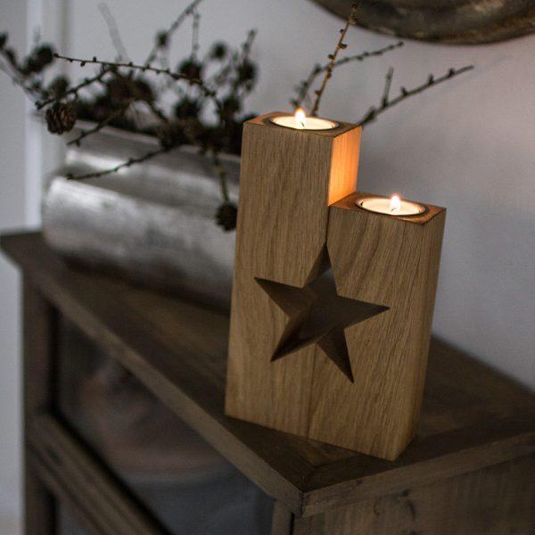 Weihnachtlich dekorieren mit Deko aus Holz