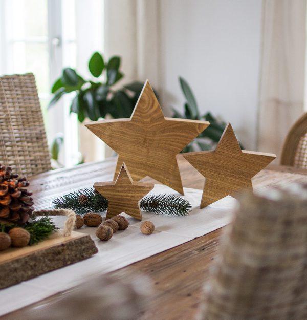 Holzsterne zum Dekorieren oder als Geschenk aus Holz