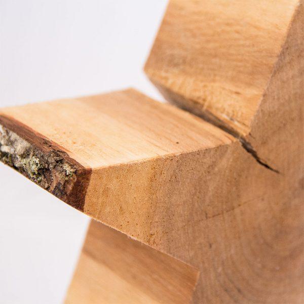 Holzstern aus Baumscheibe Deko