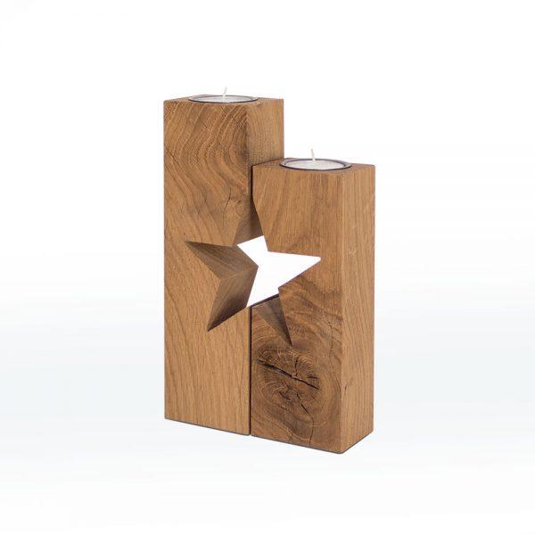 Weihnachtsdeko Stern Holz Eiche