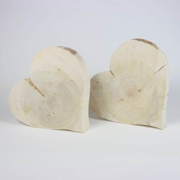 Holzdeko Baumscheibenherz riesig