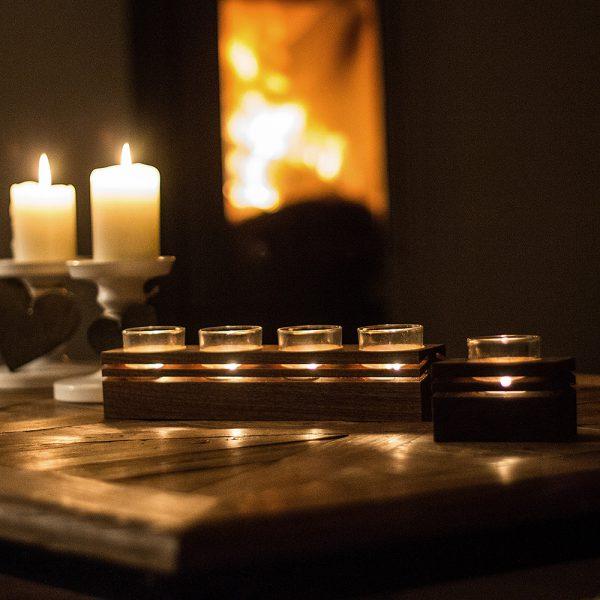 Teelicht Design Holz Deko