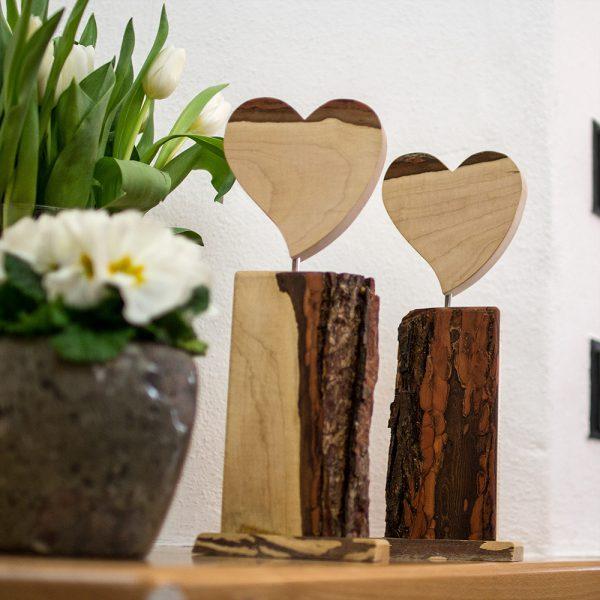 Herzdekoration Holzdekoration