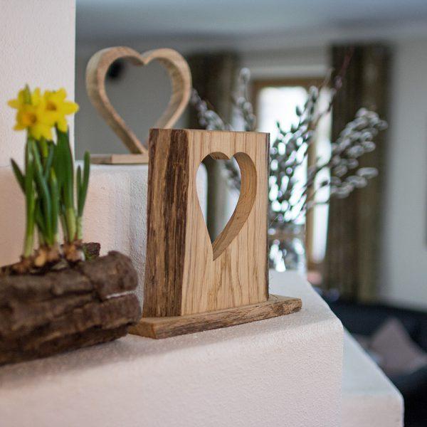 Holzdekoration Hochzeitdeko