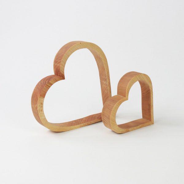 Herz aus Holz zum dekorieren