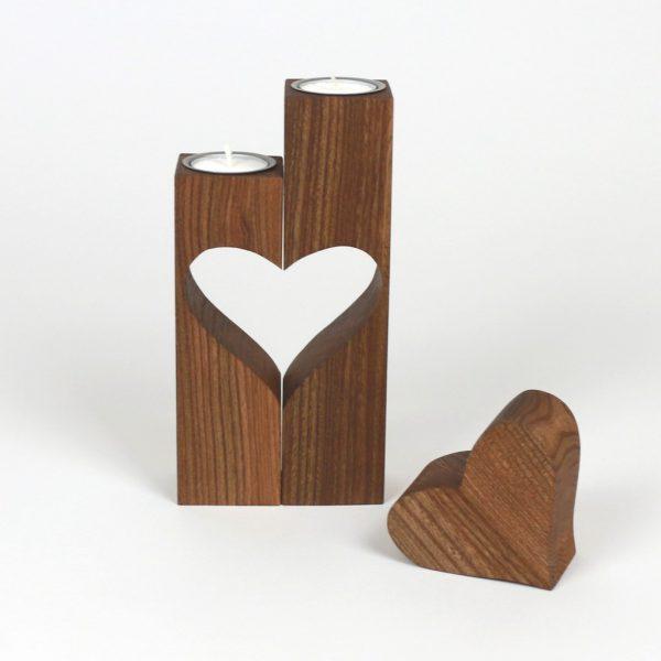 Holzdeko Fruehlingsdeko Herzdekoration