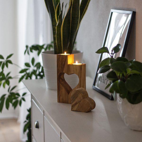 Teelicht Holz Deko