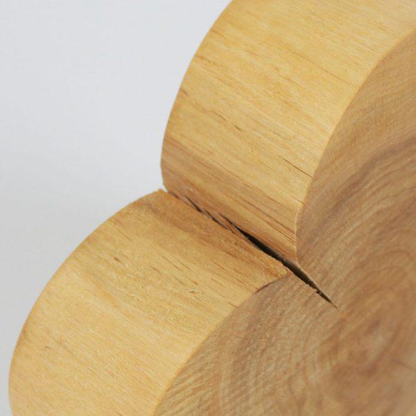 Deko Herz aus Baumscheibe Massivholz
