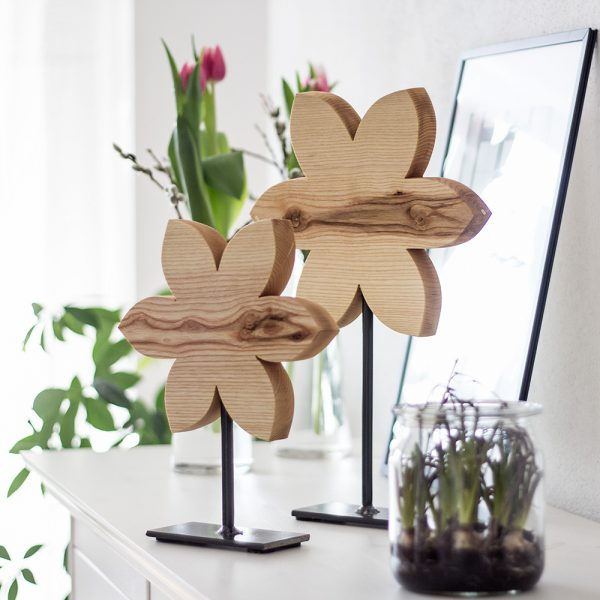 Fruehlingsdeko aus Holz
