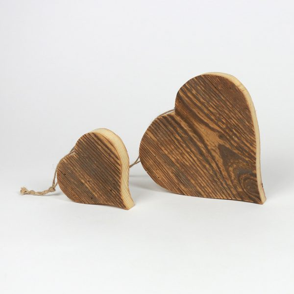 Herz aus Altholz Deko Geschenkidee