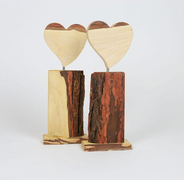 Holzdeko Herzen rustikal