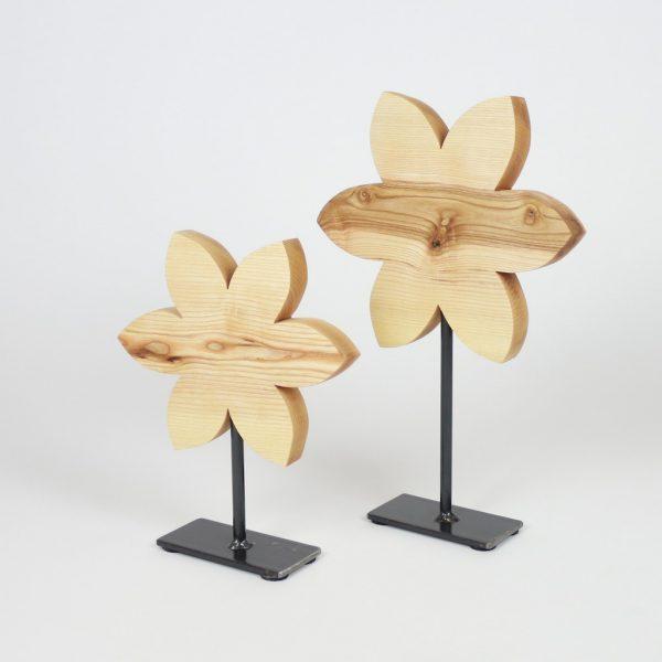 Holzblume auf Fuss, Osterdekoration