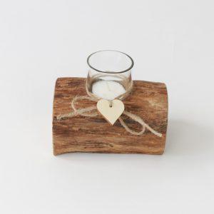 Teelichthalter rustikal aus schönem Treibholz gefertigt