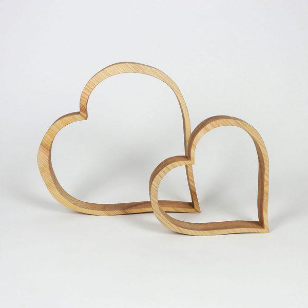 Herz Deko aus Holz
