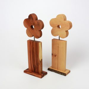 Holzblumen Deko aus Holz
