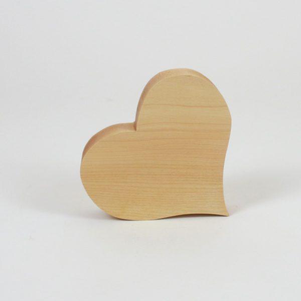 Muttertagsgeschenk, Holzherz aus Ahorn