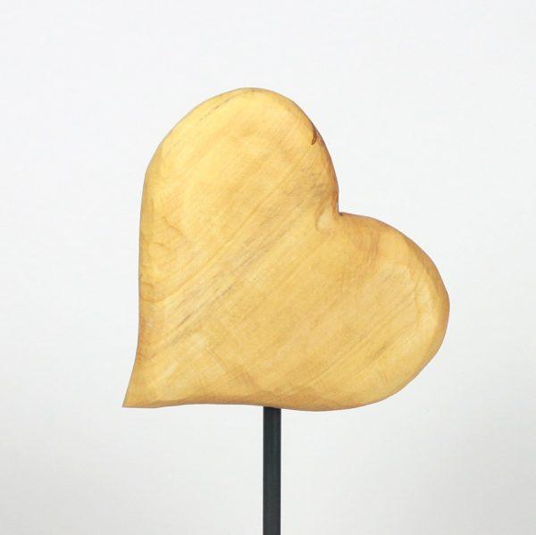 Wechselherzen auf Metallfuss liegendes Herz Holzdesign