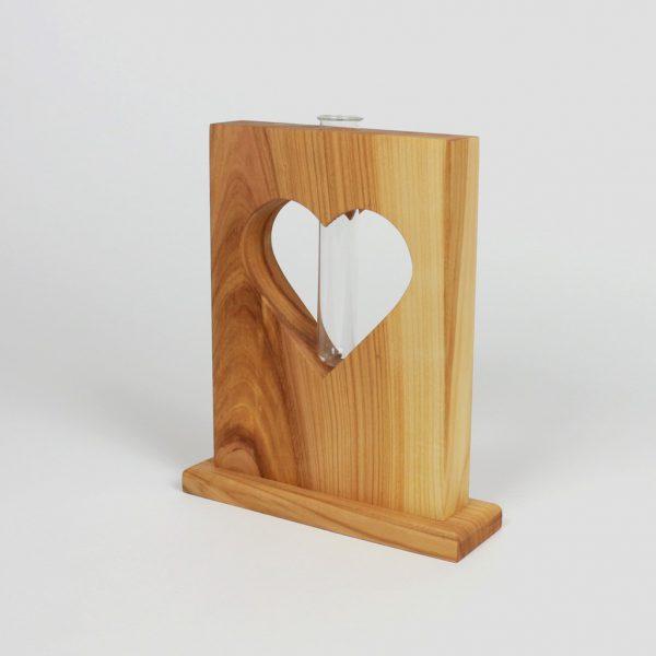 Holzvase Holzdeko Frühlingsdeko