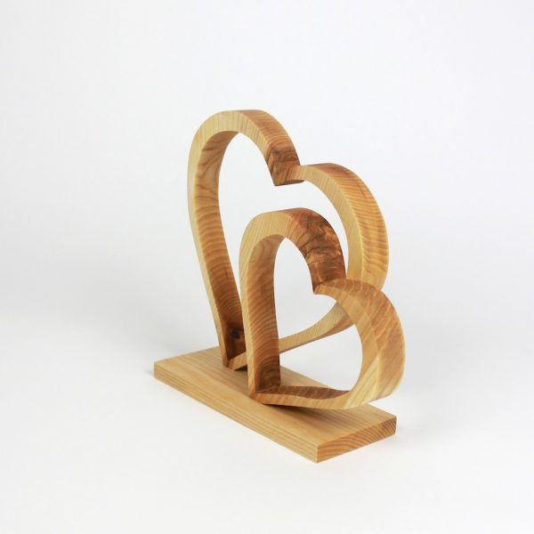 Herzdekoration Holzdeko Geschenkidee aus Holz