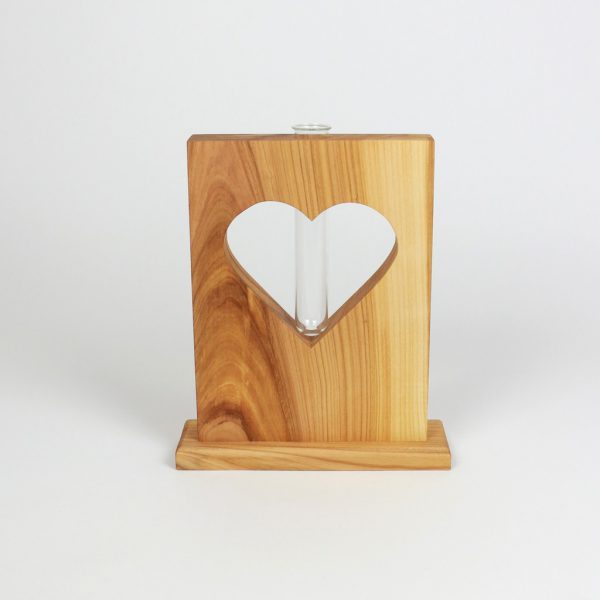 Herzaufsteller mit Reagenzglas Muttertagsgeschenk