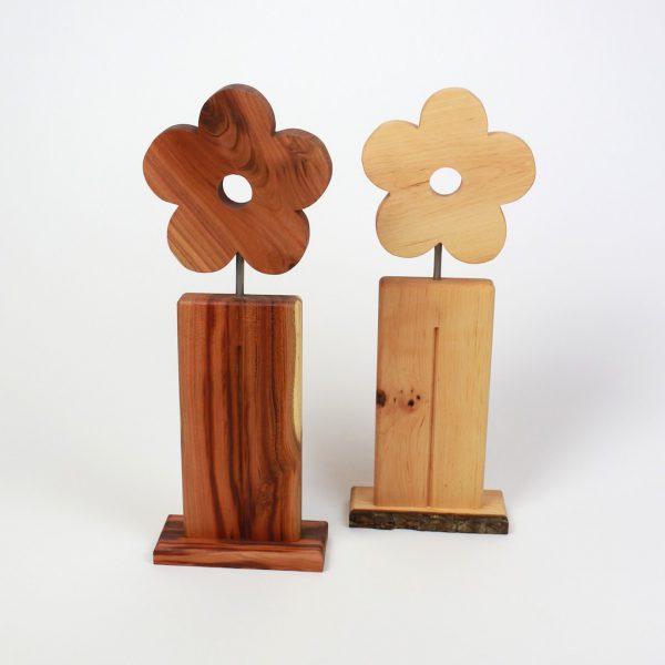 Blume aus Holz Zwetschge