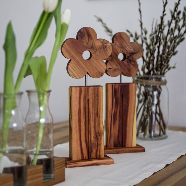 Holzblumenaufsteller Frühlingsdekoration