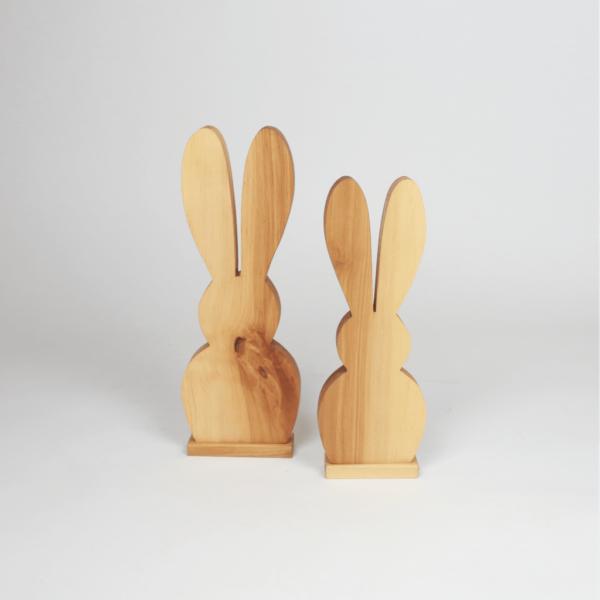 Osterdeko Holzhase mit langen Ohren - Geschenke aus Holz zu Ostern