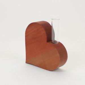Holzvase für Muttertag