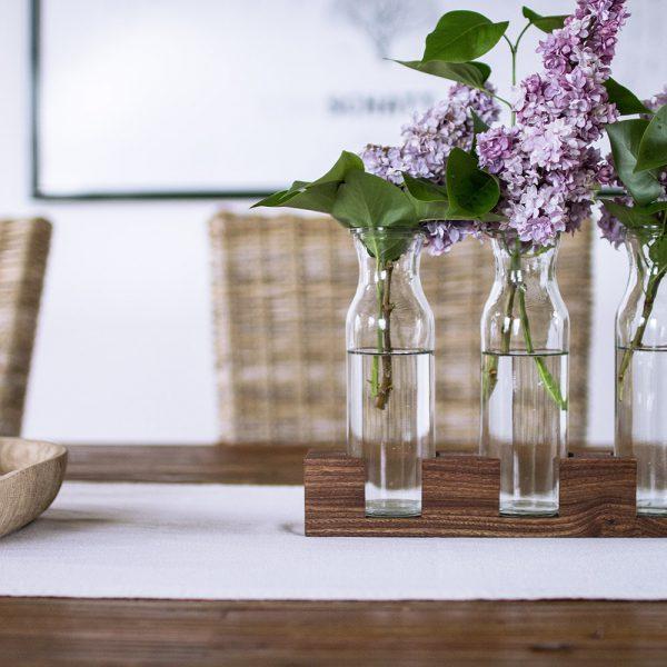 Tischdeko aus Holz