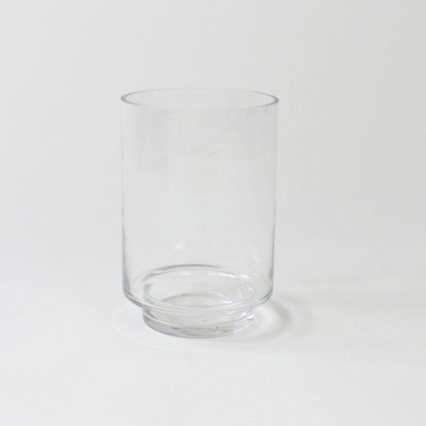 Zylinderglas mit Sockel für Altholzbalken