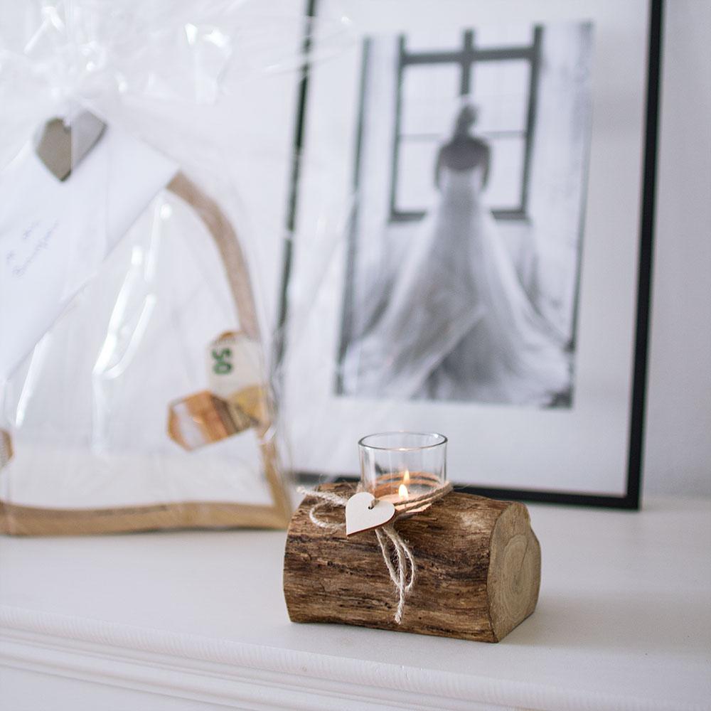 Geschenkidee aus Holz für Hochzeit