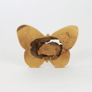 Designschmetterling aus besonderem Holz