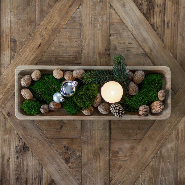 Schale aus Holz handgeschnitzt