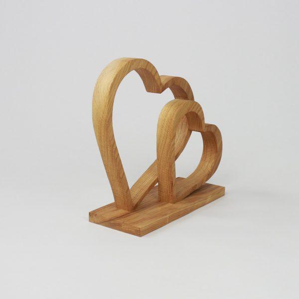 Holzdeko Holzherz zum verschenken