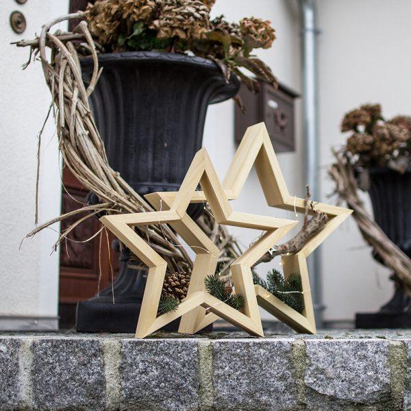 Sterndeko aus Holz - Holzdekoration