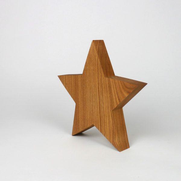Stern aus Massivholz handgemacht
