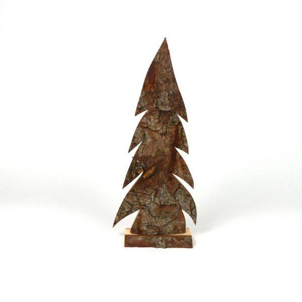 Tannenbaum mit Rinde - Holzdeko
