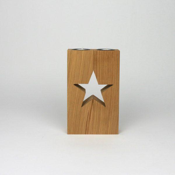 Sterndeko Säule als Weihnachtsgeschenk aus Holz