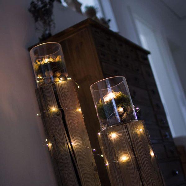 romantische Windlichtlsäulen für Hotels oder Gaststätten