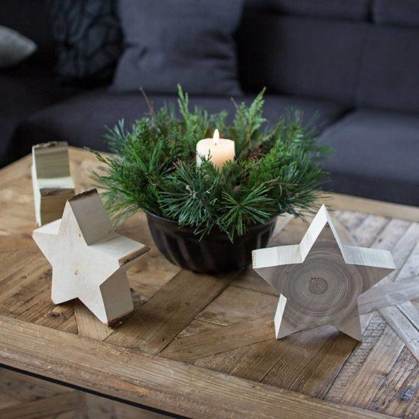 Sterndeko - Holzdeko - Weihnachtsdeko