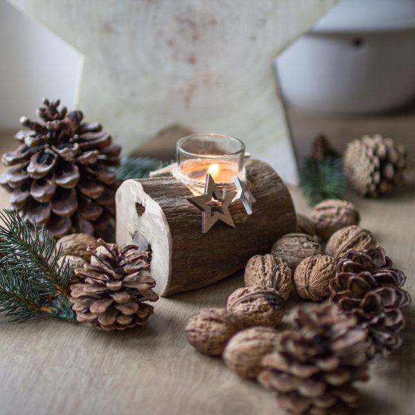 Weihnachtlich dekorieren mit Treibholzdeko