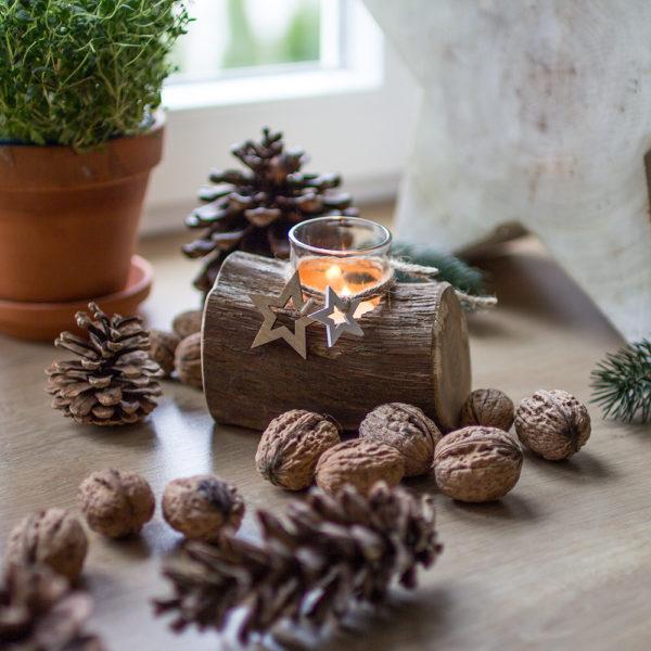 weihnachtlich dekorieren mit Schwemmholz Deko