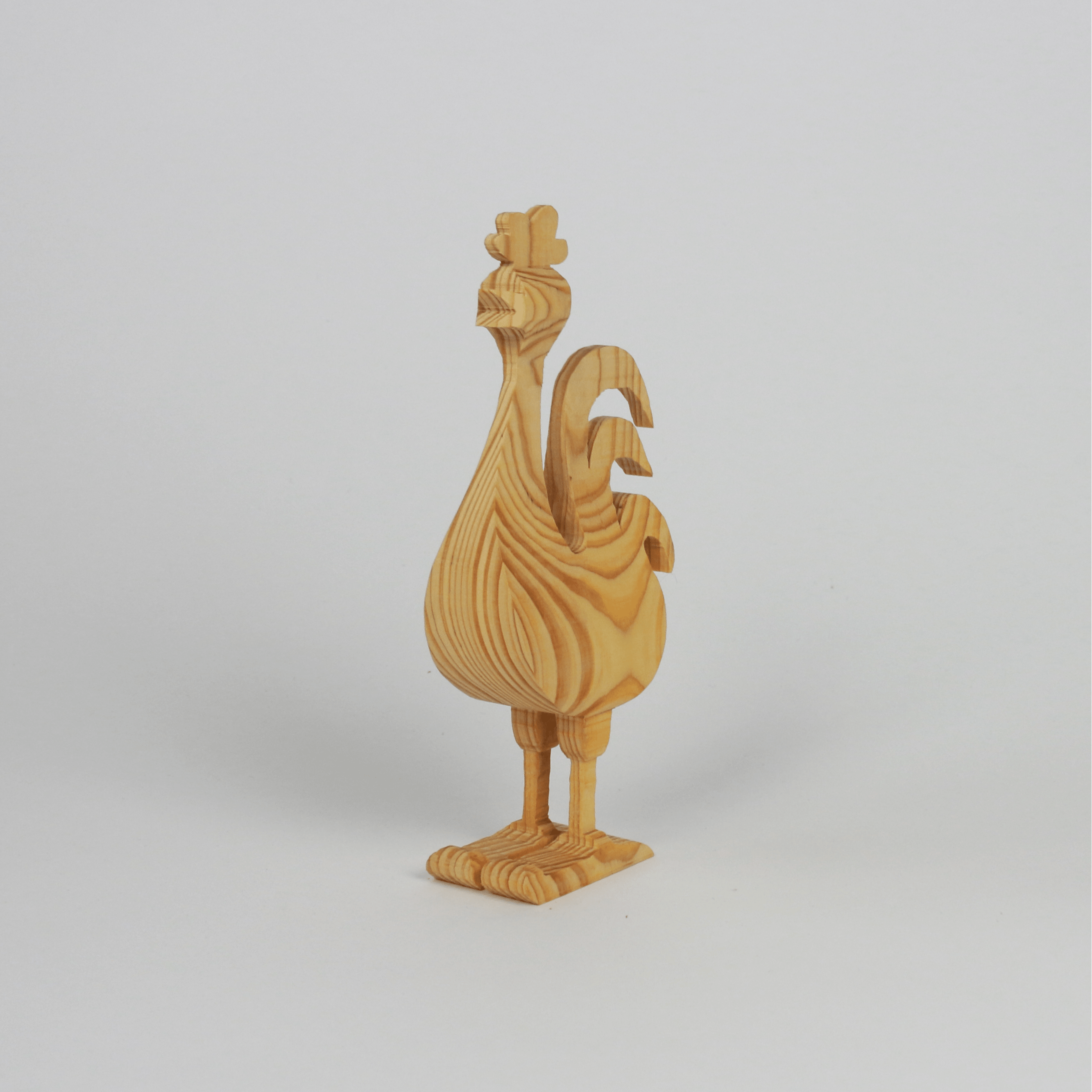 Hahn aus Holz - Trenddeko in 3 D