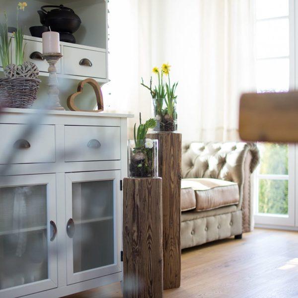 Altholzdeko mit alten Balken - ein Blickfang für jeden Raum