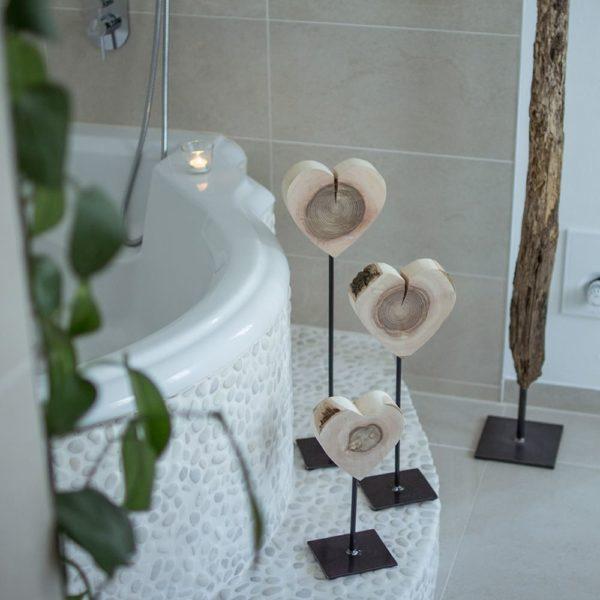 Holzdeko Baddekoration Herzgeschenke