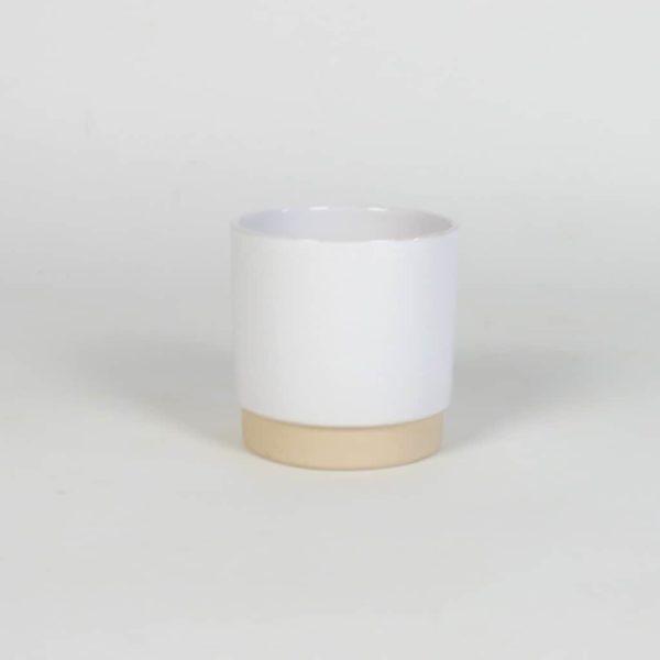 weißer Übertopf passend zu unseren Pflanzsäulen