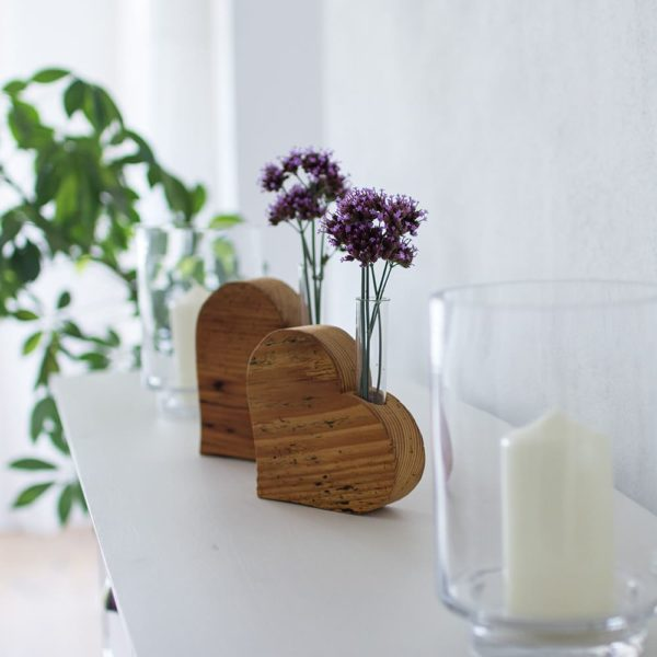 Deko aus altem Holz - Herzdeko Holzdeko