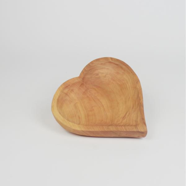 Holzdeko Herzschale Hoteldeko