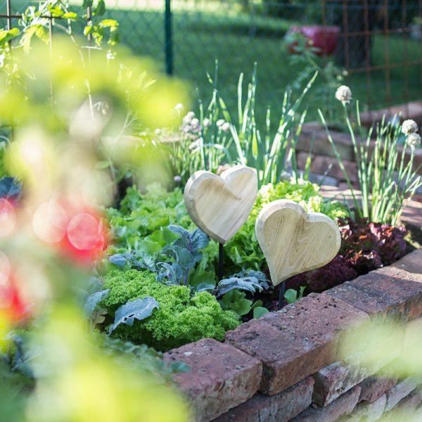 Deko für den Garten Herzdeko