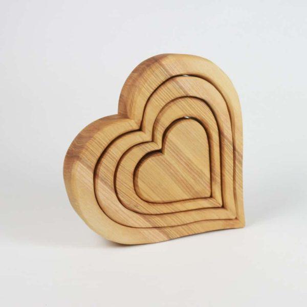 Holzherzen zum Verschenken - Liebesgeschenk